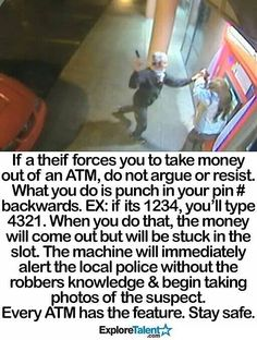 falls for this crap Like Hacks - ATM Safety feature - everyone please read!Like Hacks - ATM Safety feature - everyone please read! I Need To Know, The More You Know, Things To Know, Simple Life Hacks, Useful Life Hacks, Cool Hacks, 1000 Lifehacks, Take Money, Tips & Tricks