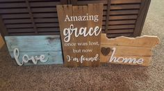 Custom made wood signs and decor. Email me at lovemadethisdecor@gmail