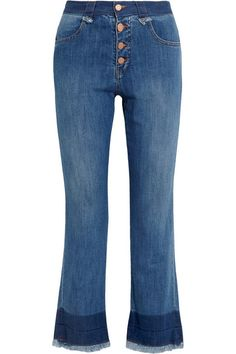 See by Chloé | Cropped mid-rise flared jeans | NET-A-PORTER.COM