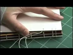 ▶ Bookbinding Tutorials: Coptic Stitch PART 3: Adding the back cover - YouTube