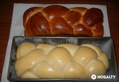 Sliced ​​cakes for Easter ham Hungarian Sausage Recipe, Hungarian Recipes, Pastry Recipes, Bread Recipes, Cookie Recipes, Jewish Apple Cakes, Best Banana Bread, Sweets Cake, Bread And Pastries