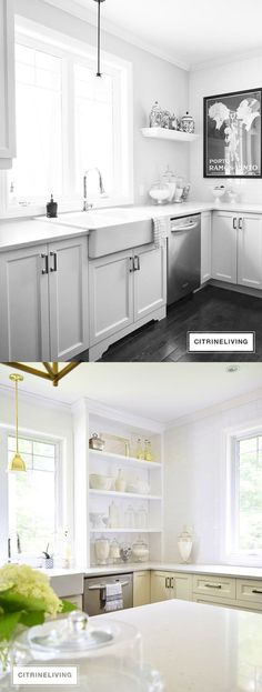 Before and After: Kitchen Shelving Update by Citrine Living