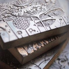 Angie Lewin printing blocks   on Carolyn Saxby's blog