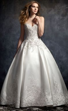 princess wedding dress from Kenneth Winston Wedding Dress Backs, Wedding Dresses With Flowers, Gorgeous Wedding Dress, Wedding Dress Sleeves, Colored Wedding Dresses, Bridal Wedding Dresses, Bridal Lace, Dress Lace, Lace Wedding