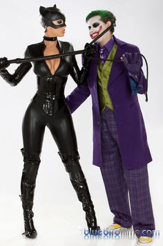 Katwoman XXX movie, latex catwoman costume and the Joker. #latex