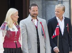 Haakon with Mette-Marit and her first son Marius