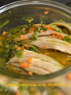 Fish Dishes, Greek Recipes, Seaweed Salad, Diy Food, Seafood, Recipies, Lose Weight, Food And Drink, Appetizers