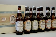 Beer Calendar Labels by Liz Heath, via Behance