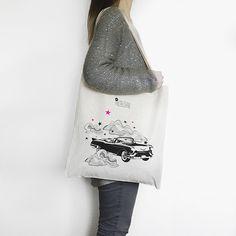 Sac Tote Bag Cadillac Rose Fluo