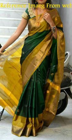 Excited to share the latest addition to my shop: Uppada Forest Green Apple jamdhani butta design silk saree Pattu Sarees Wedding, Uppada Pattu Sarees, Silk Saree Kanchipuram, Nalli Silk Sarees, Kanchi Organza Sarees, Pochampally Sarees, Bridal Sarees, Handloom Saree, Indian Silk Sarees