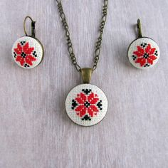 Green Tassel Earrings, Red Necklace, Tassel Jewelry, Black Earrings, Boho Earrings, Clay Jewelry, Etsy Earrings, Crochet Earrings, Matching Necklaces