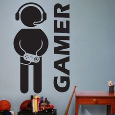 Video game wall art video game gaming gamer wall decal art decor sticker vinyl wall decal for boys room stickers on the wall stickers on the wall decoration