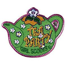 TEA PARTY PATCH Girl Scout Fun Patch