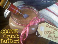 Cookie Crumb Butter - Have leftover cookies? Simply Blend 1 cup of cookie crumbs with cup Sweetened Condensed Milk. Best spread ever! Brunch Foods, Brunch Recipes, Cookie Bakery, Cookie Butter, Butter Oil, Homemade Seasonings, Cookie Crumbs, Inexpensive Gift, Jar Gifts