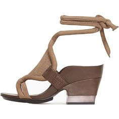 3.1 Phillip Lim Marquise Clay Mid Heel Sandal ($659) ❤ liked on Polyvore featuring shoes, sandals, woven leather sandals, leather ankle strap sandals, leather heeled sandals, ankle tie sandals and braided sandals