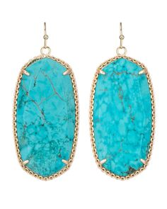 Have these! Love the crochet basket the turquoise is cradled in. Love Kendra Scott!