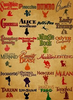 Disney! I need to watch all of these all over again! And again! Would make for a great poster in the family room too!