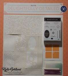 Kylie Bertucci | Stampin Up | 2018/2019 Annual Catalogue | Detailed With Love | Delightfully Detailed | Faceted Dots | Handmade Card | OnStage2018 | #stampinup #cardmaking #handmadecard #rubberstamps #stamping #kyliebertucci #loveitchopit