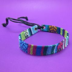 Variegated Hemp Handmade Friendship Bracelet Anklet Wristband Thai Hmong Woven fabric by LuxuryFay on Etsy