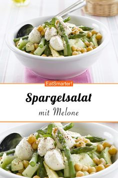 Salad Recipes Vegetable and melon salad with mozzarella - smarter - time: 25 min. Greek Recipes, Fruit Recipes, Vegetable Recipes, New Recipes, Salad Recipes, Vegetarian Recipes, Healthy Recipes, Healthy Salads, Healthy Eating