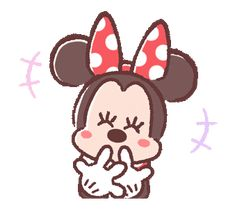 LINE Official Stickers - Minnie Mouse: Pastel Prettiness Example with GIF Animation Emoji Happy Face, Funny Emoticons, Cute Love Gif, Disney Background, Cartoon Gifs, Glitter Graphics, Mickey Minnie Mouse, Cute Disney, Disney Wallpaper