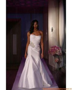 Schlichtes türkisches Brautkleid aus Satin Meerjungfrau