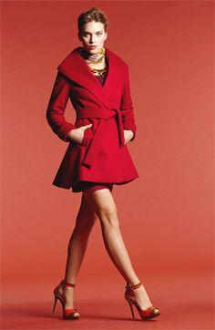Trina Turk Coat, Halogen® Sweater & Kensie Skirt   Nordstrom