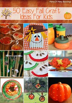 50 super easy fall craft ideas for kids most of them using easy to find materials you likely have around the house. #crafts #craftideas #fallcraft