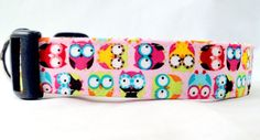 Awesome Hoot Owls on Pink Dog Collar. My baby girl needs this