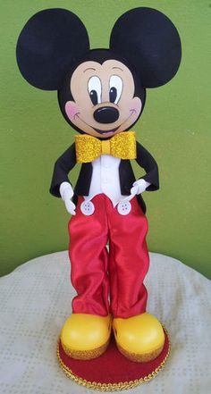 Twag Rosa Disney Mickey Mouse Fofucha Doll Craft Foam Doll | eBay