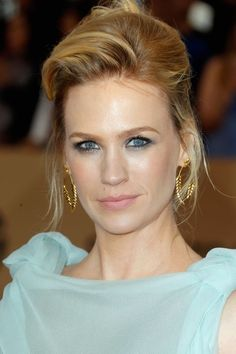 January Jones at the 2016 SAG Awards, styled by Danilo.