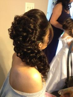Bridal up do. Side pony with curls. Dawnrosemakeupartistry.com