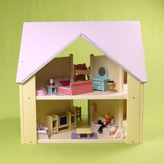 Custom Cottage Dollhouse Lavender and Yellow