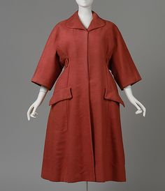 Christian Dior (French, 1905–1957). Coat, spring/summer 1953. Hattie Carnegie, Inc. (American) The Metropolitan Museum of Art, New York. Gift of Mrs. A. Moore Montgomery, 1957 (C.I.57.62.1a–c)