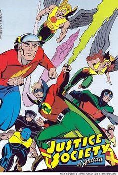 Justice Society of America, return, Mike Parobeck, 1990s, fun, comic books, DC Comics