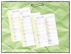 """Refill """"rubrica di classe""""   #refill #planner #filofax"""