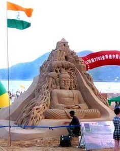 Budha Budha Art, Sand Sculptures, Sand Art, Sands, Buddhism, Zen, Graffiti, Street Art, Doodles