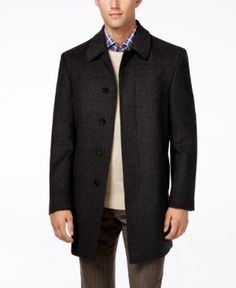 Lauren Ralph Lauren Jake Herringbone Wool-Blend Overcoat  - Grey 42R