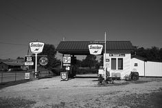 "Route 66 - Old fashioned gas station on Rt. 66 in Paris Springs, Missouri. ""The Fine Art Photography of Frank Romeo."""