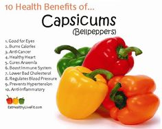 10 Health Benefits of Capsicum (Bellpeppers) | Eating Healthy & Living Fit - EatHealthyLiveFit...