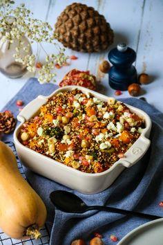 Feta, Veggie Recipes, Healthy Recipes, Easy Recipes, Plats Weight Watchers, Vegan Vegetarian, Vegan Food, Vegetable Pizza, Easy Meals