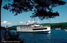 Cruising Lake Winnipesaukee onboard the Mount Washington.