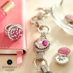 Pink is always perfect! Get your customizable jewelry with pink Snaps at magnoliaandvine.com