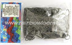 Choon's Design LLC Official Rainbow Loom Grey 600 Latex-Free (24 C-Clips)