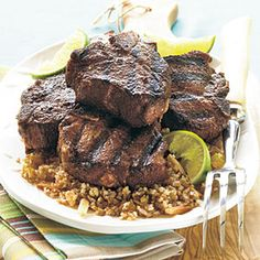 Sweet-Spiced Grilled Lamb Chops Recipe