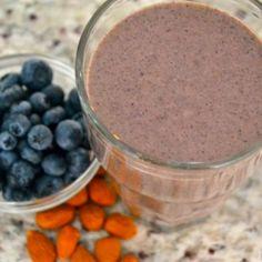 Blueberry Almond Smoothie - Sarah J Cuff Smoothie Recipes, Smoothies, Tasty, Yummy Food, Sarah J, Protein Shakes, Taste Buds, My Recipes, Blueberry