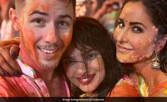 Inside Pics From Isha Ambani's Holi Party: Nick Jonas, Priyanka Chopra, Katrina Kaif, Vicky Kaushal's Colourful Time Happy Pictures, Cool Pictures, Holi Party, Holi Celebration, Diana Penty, Hindu Festivals, Party Venues, Jacqueline Fernandez, Nick Jonas