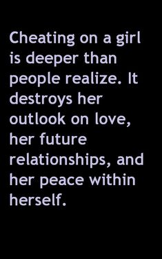 Cheating is deeper than many people realize...