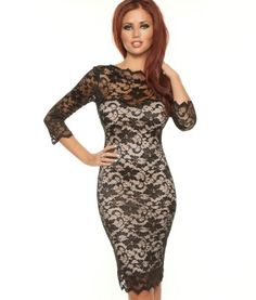 Amy Childs Lacey Pencil Dress.