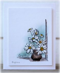 WT478 Daisies by Biggan - Cards and Paper Crafts at Splitcoaststampers